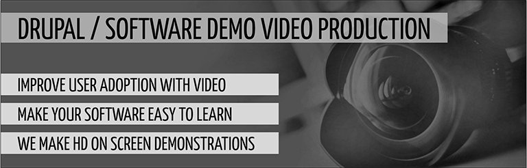 Drupal software video demonstration video production