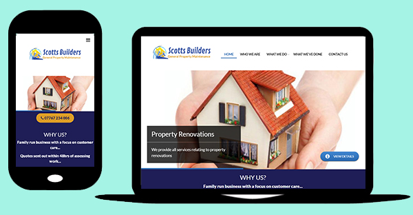 Business portfolio website for a general builder