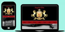Mobile responsive site Angels Elite screenshot