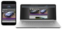 Screenshot of Woodland automotive homescreen