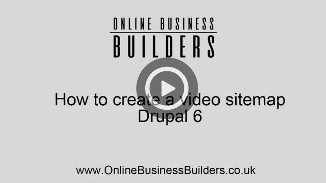 How to create a Google video sitemap in Drupal video