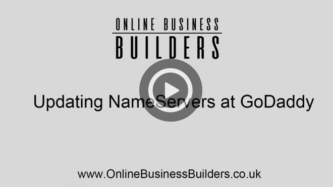 Adding or updating your nameservers on GoDaddy video