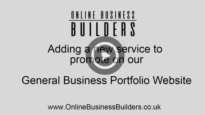Drupal 7 portfolio website - add a new service page video