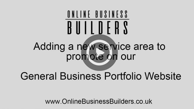 Drupal 7 portfolio website - add a new service area page video