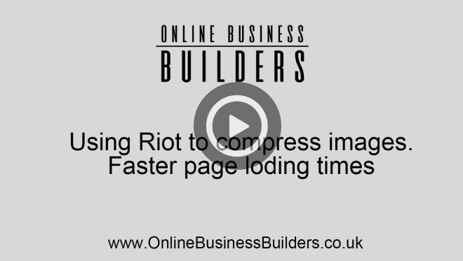 SEO: How to compress your images using RIOT for faster pages video