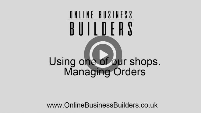How to manage orders in one of our eCommerce websites video