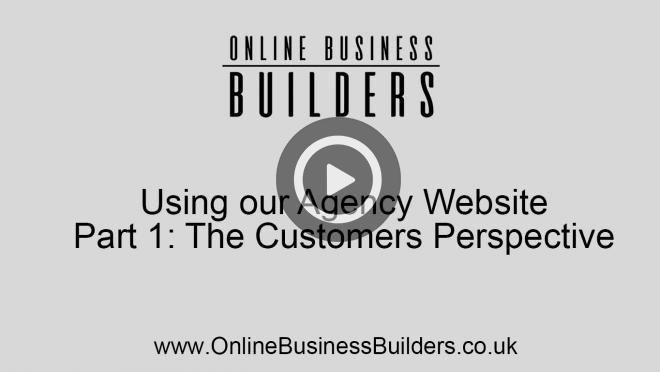 Using our agency website part 1 - customers perspective video