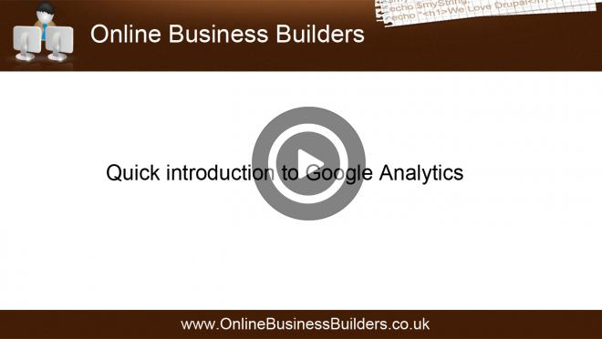 "What is ""Google Analytics""? quick tour - 2012 video"