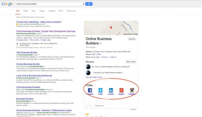 SEO: Structured data mark up for a enhanced presence in Google.